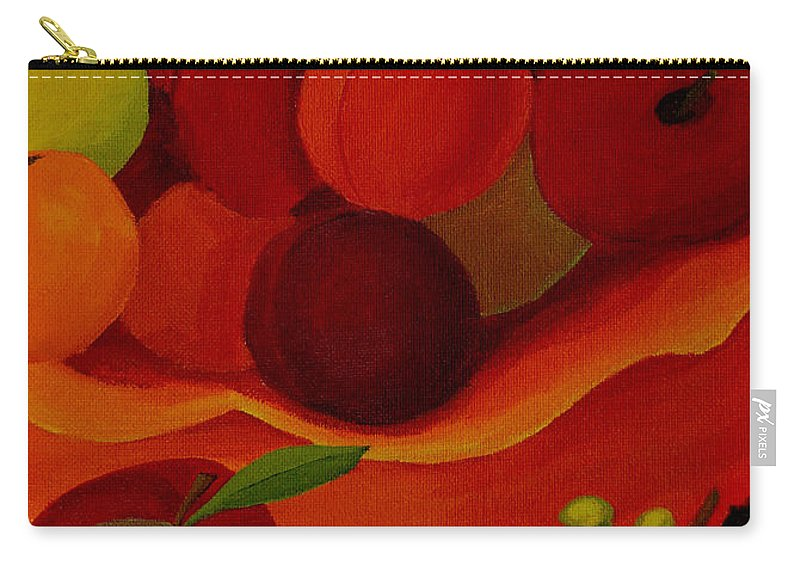 Fruit Carry-all Pouch featuring the painting Fruit-still Life by Anthony Dunphy