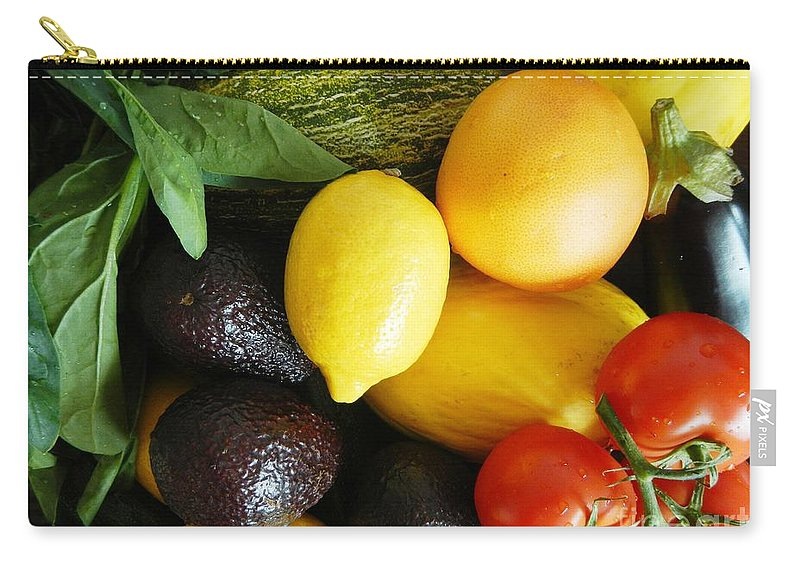 Foods Carry-all Pouch featuring the photograph Fruits And Vegetables by Loreta Mickiene