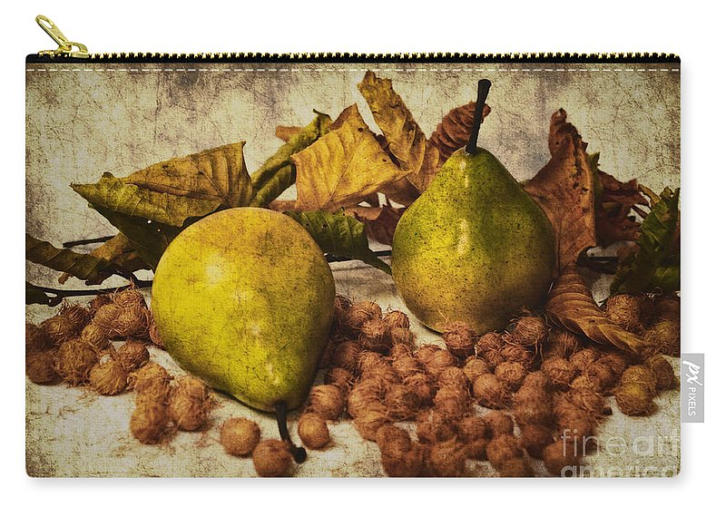Fruits Carry-all Pouch featuring the photograph Autumn Still Life by Angela Doelling AD DESIGN Photo and PhotoArt