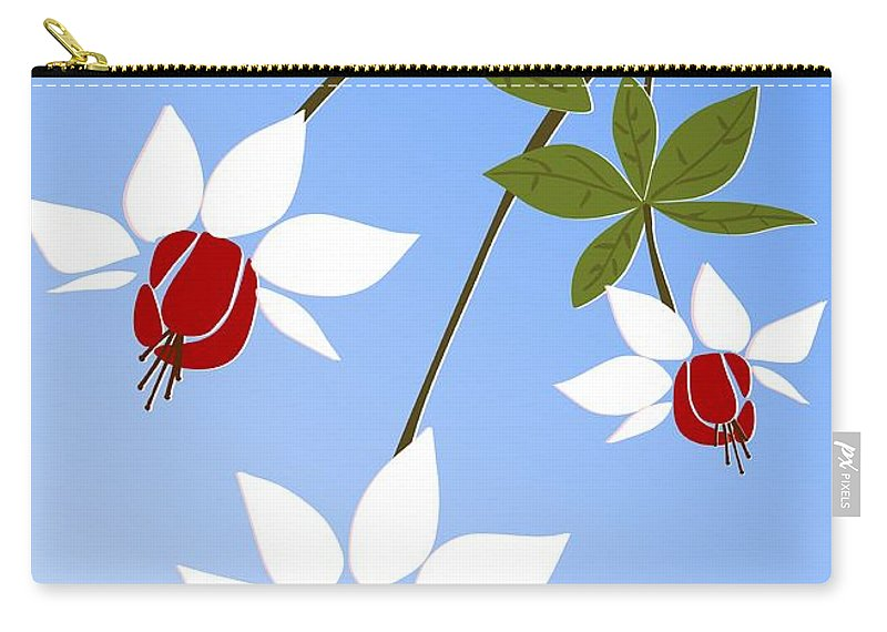 Fuchsia Carry-all Pouch featuring the digital art Fuchsia by Anastasiya Malakhova