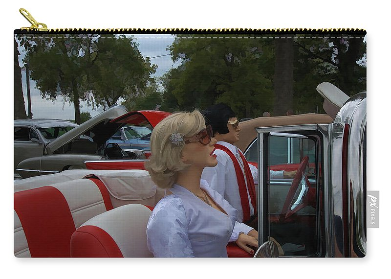 Fuel Injection Cadillac Carry-all Pouch featuring the photograph Fuel Injection Cadillac by Liane Wright