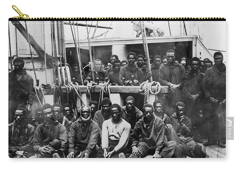 1862 Carry-all Pouch featuring the photograph Fugitive Slaves, 1862 by Granger