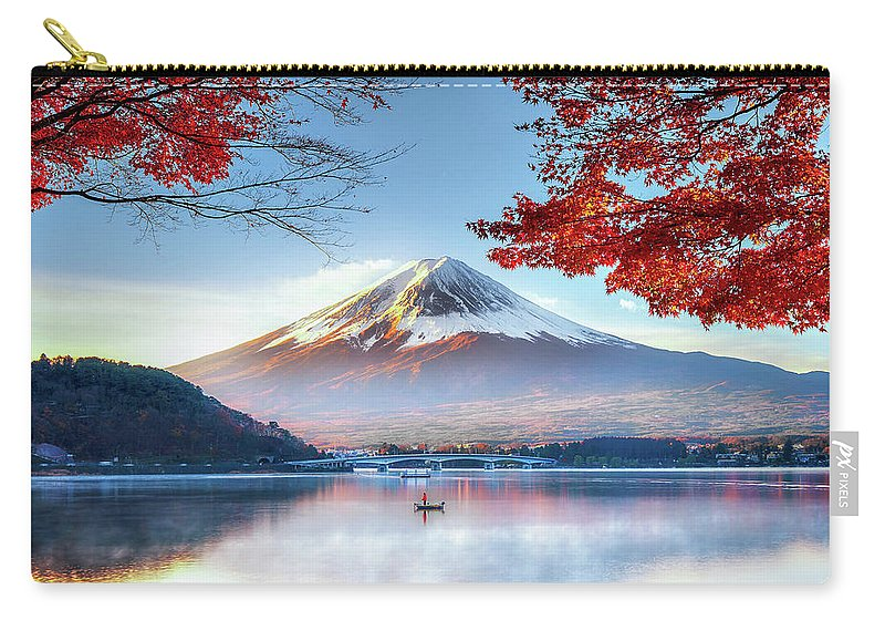 Snow Carry-all Pouch featuring the photograph Fuji Mountain In Autumn by Doctoregg