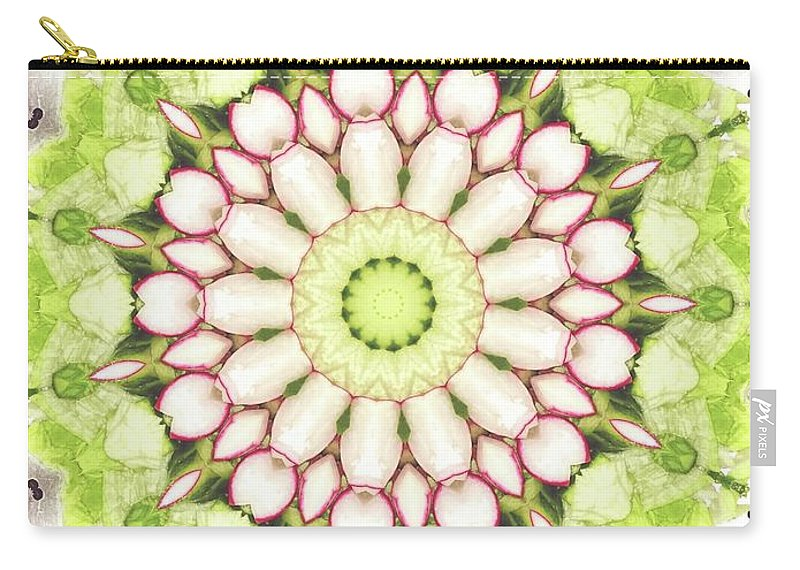 Full Frame Carry-all Pouch featuring the photograph Full Frame Shot Of Radish And Cucumber by Mark Jones / Eyeem