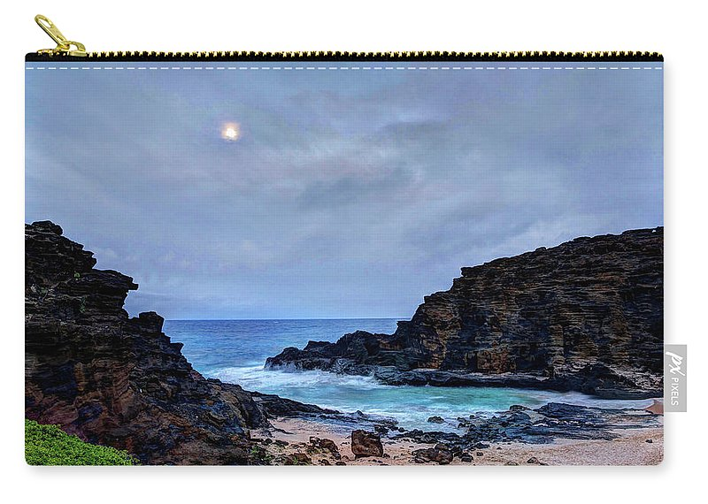 Tranquility Carry-all Pouch featuring the photograph Full Moon In The Clouds by Julie Thurston