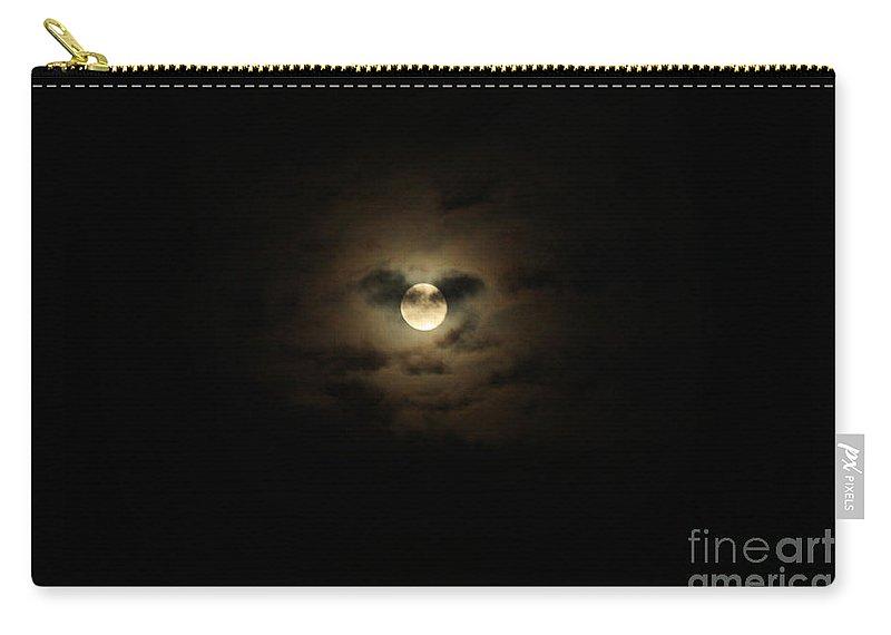 Full Moon Over Long Island Carry-all Pouch featuring the photograph Full Moon Over Long Island by John Telfer