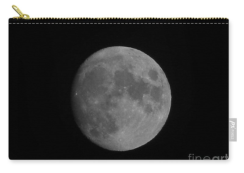 Full Moon Carry-all Pouch featuring the photograph Full Moon by Owl's View Studio