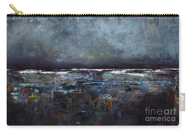 Ocean Carry-all Pouch featuring the painting The Seas Reflection by Frances Marino