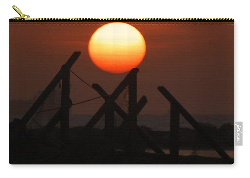 Sunrise Carry-all Pouch featuring the photograph Full Sun by Leticia Latocki