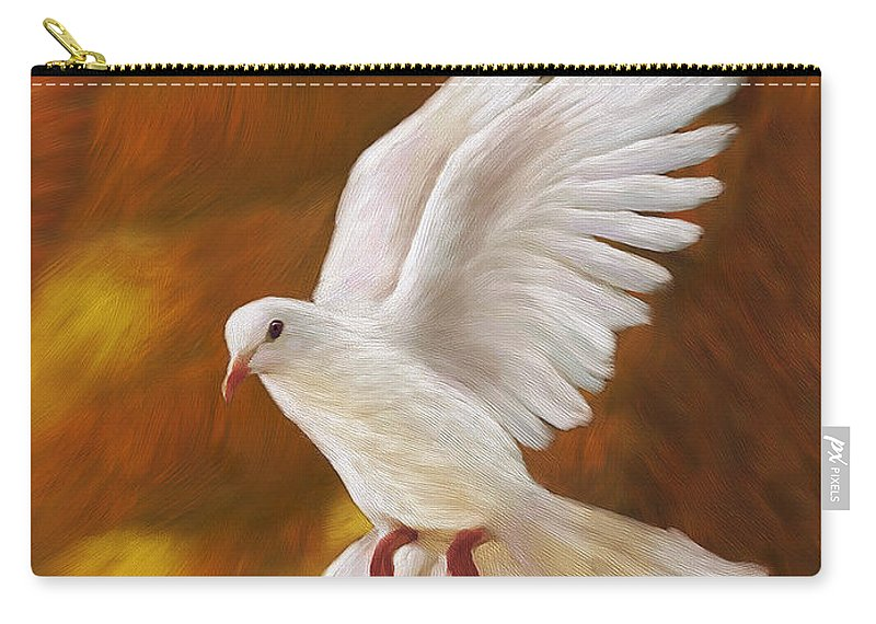 Dove Artwork Carry-all Pouch featuring the painting Fullness Of Joy by Constance Woods
