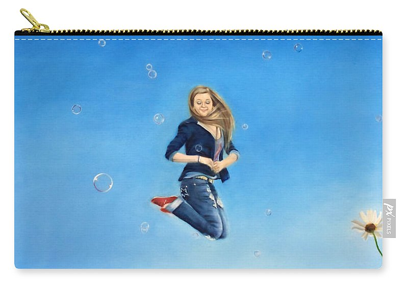 Fun Carry-all Pouch featuring the painting Fully Alive by Jeanette Sthamann
