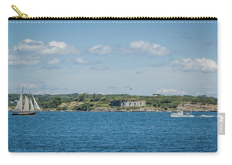 Maine Carry-all Pouch featuring the photograph Fun Vs Work by Jane Luxton