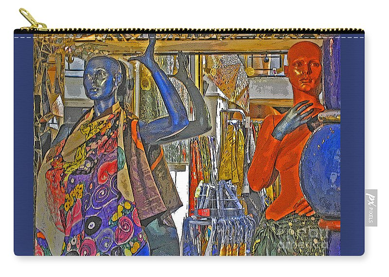 Fashion Carry-all Pouch featuring the photograph Funky Boutique by Ann Horn