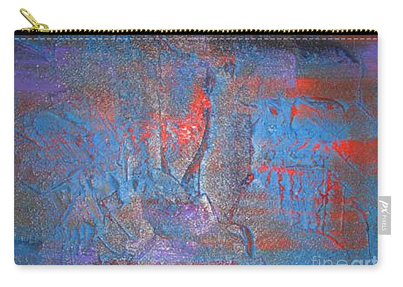 Abstract Carry-all Pouch featuring the painting Funny Rain by Silvana Abel