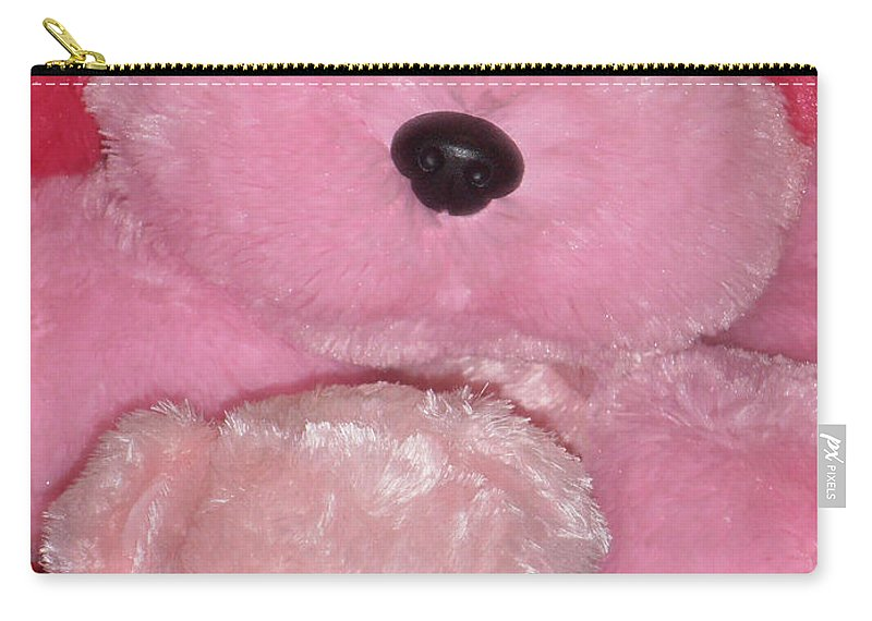 Pink Carry-all Pouch featuring the photograph Furry Friends by Marcia Socolik