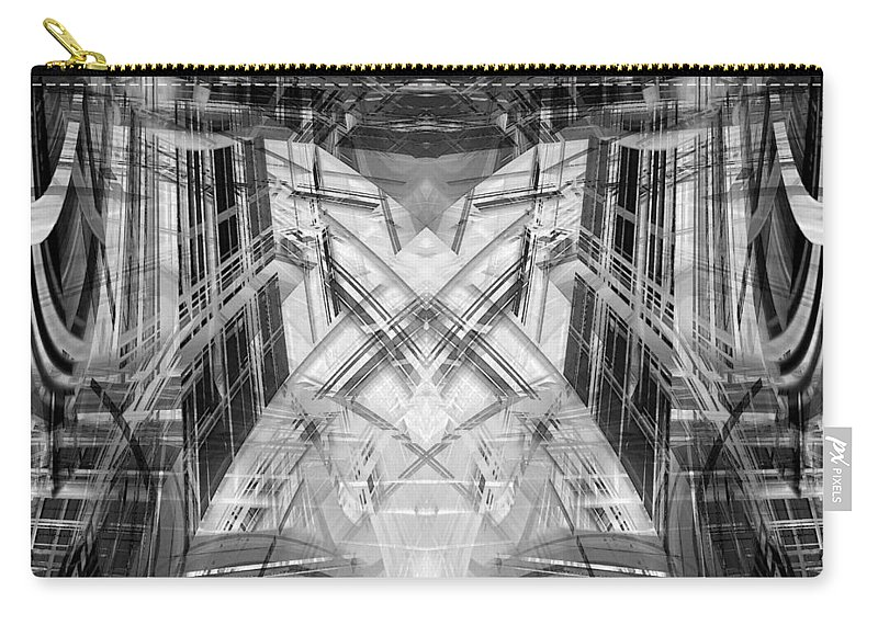 Abstract Carry-all Pouch featuring the digital art Future by Steve Ball