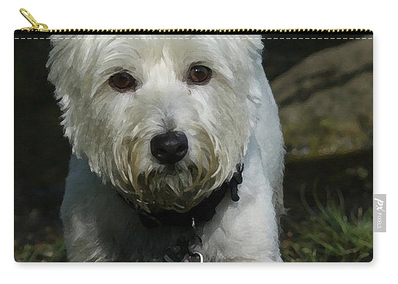 Dog Carry-all Pouch featuring the photograph Fuzzy by Karol Livote