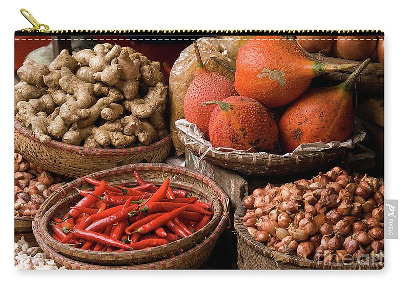 Basket Carry-all Pouch featuring the photograph Gac Fruit 01 by Rick Piper Photography