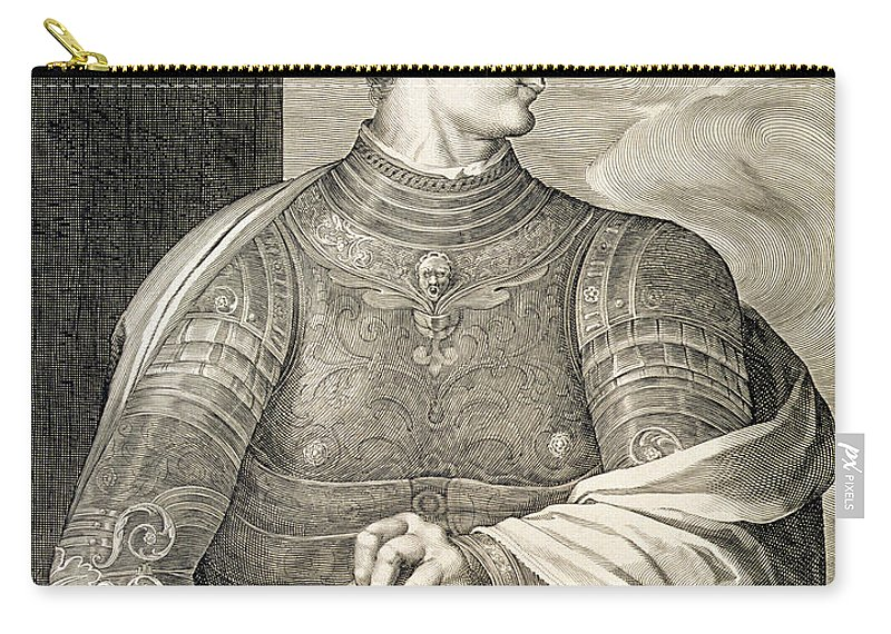 Male Carry-all Pouch featuring the drawing Gaius Caesar Caligula Emperor Of Rome by Titian