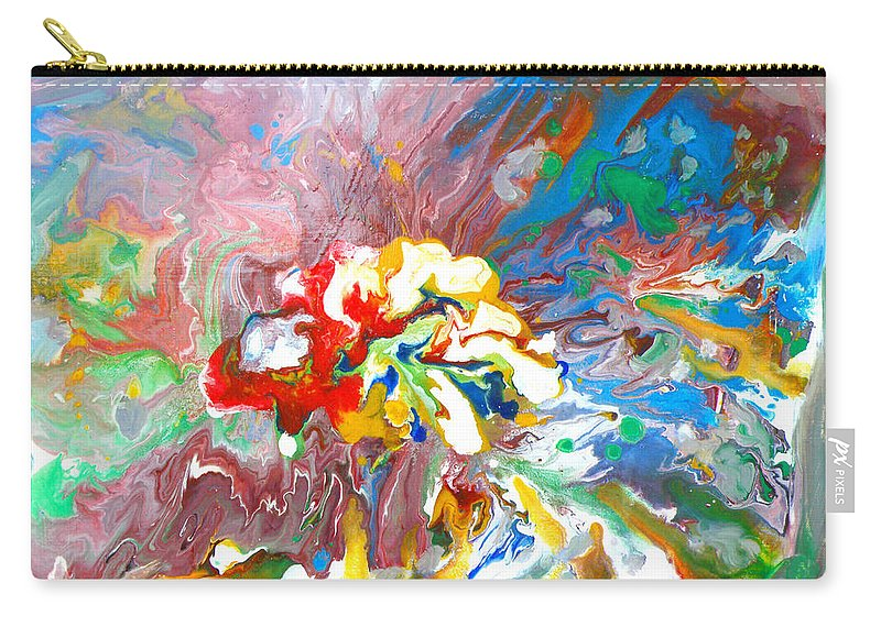Augusta Stylianou Carry-all Pouch featuring the painting Galaxy Formation by Augusta Stylianou