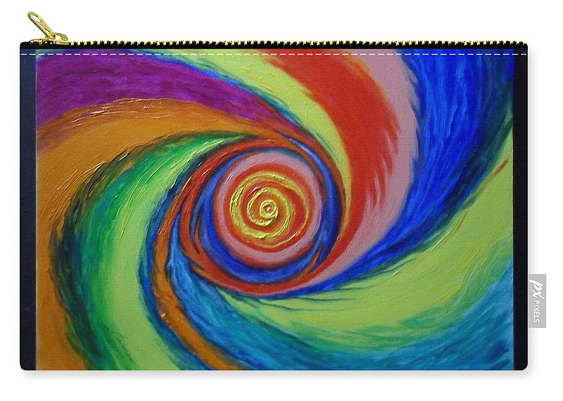 Galaxy Carry-all Pouch featuring the painting Galaxy M-63 by James Welch