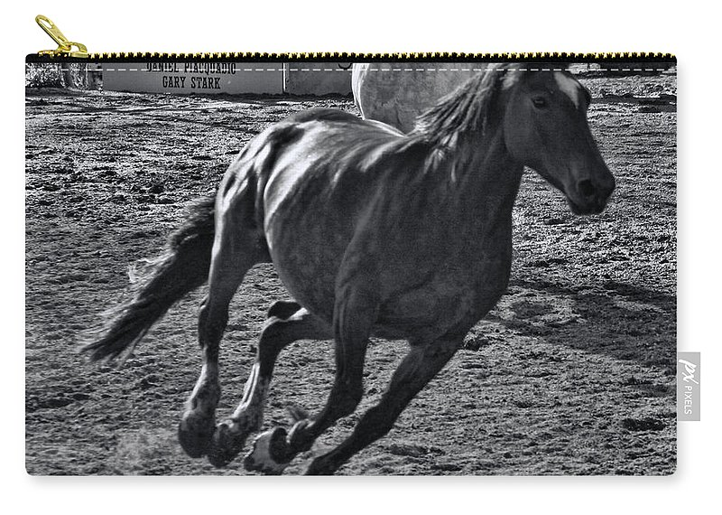 Fiesta Day's Carry-all Pouch featuring the photograph Gallop 2 by Tommy Anderson