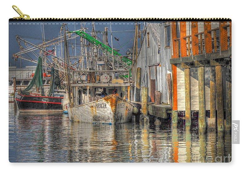 Galveston Carry-all Pouch featuring the photograph Galveston Shrimp Boats by Savannah Gibbs