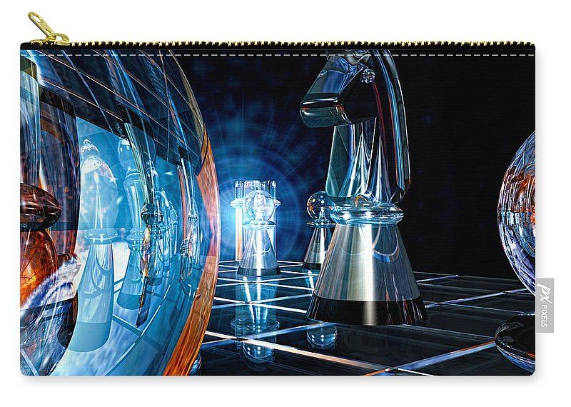 Chess Carry-all Pouch featuring the photograph Game Transparent by Bob Orsillo