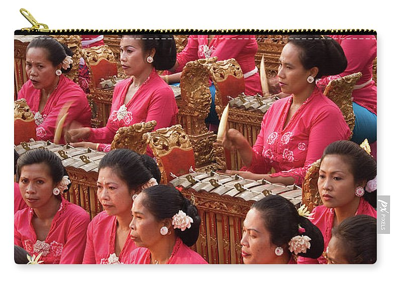 Indonesia Carry-all Pouch featuring the photograph Gamelan 01 by Rick Piper Photography