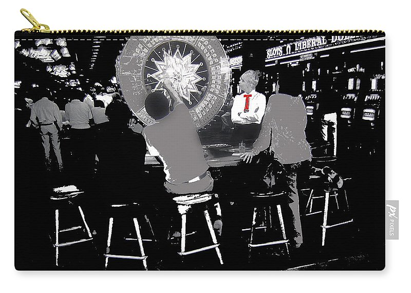 Gaming Tables Interior Binion's Horseshoe Casino Las Vegas Nevada 1979-2014 Carry-all Pouch featuring the photograph Gaming Tables Interior Binion's Horseshoe Casino Las Vegas Nevada 1979-2014 by David Lee Guss