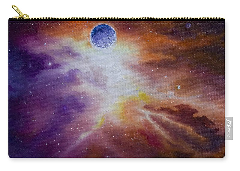 Sunrise Carry-all Pouch featuring the painting Gamma Nebula by James Christopher Hill