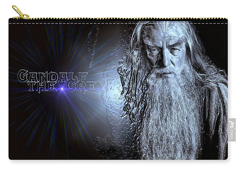 Gandalf The Grey. Gandalf Carry-all Pouch featuring the photograph Gandalf The Grey by Carlos Diaz