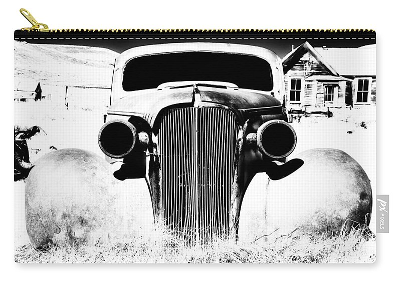 Ghost Town Carry-all Pouch featuring the photograph Gangster Car by Cat Connor