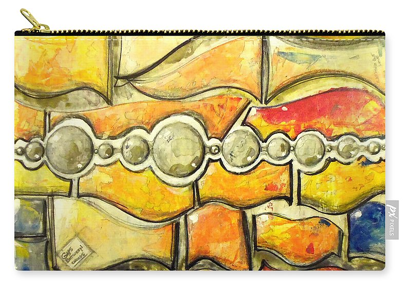 Abstract Carry-all Pouch featuring the painting Gaps Between Words - Nothing But Love by Marcello Cicchini