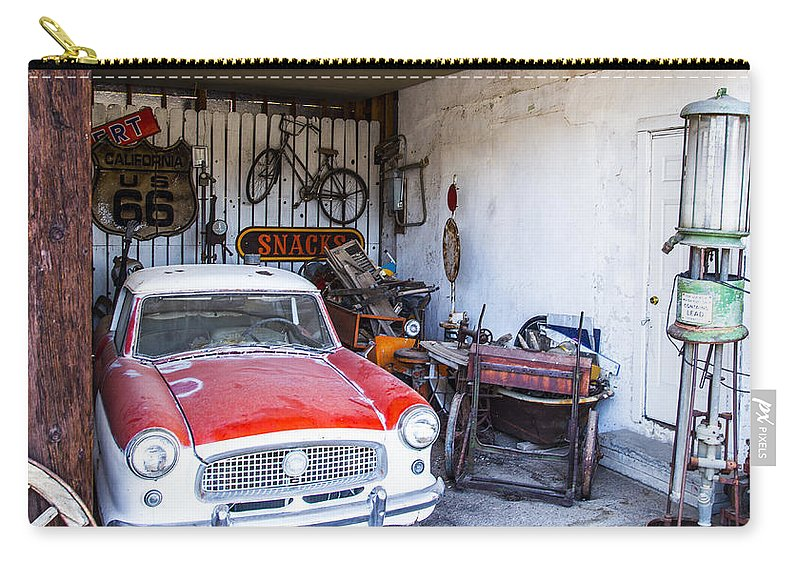 Route 66 Carry-all Pouch featuring the photograph Garage by Angus Hooper Iii