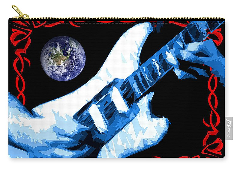 Jerry Garcia Carry-all Pouch featuring the photograph Garcia In Space by Ben Upham