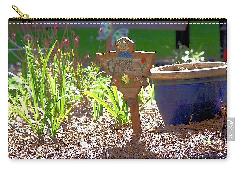 5486 Carry-all Pouch featuring the photograph Garden Angel by Gordon Elwell