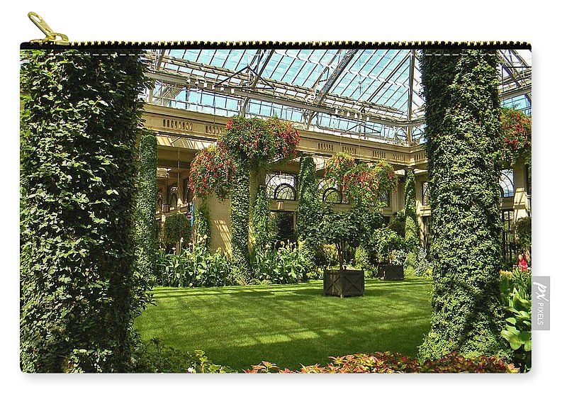 Garden Atrium Carry-all Pouch featuring the photograph Garden Atrium In Shadow by Jean Goodwin Brooks
