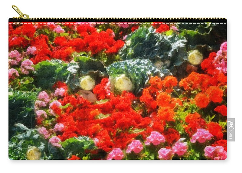 Child Carry-all Pouch featuring the photograph Garden Child by Image Takers Photography LLC - Carol Haddon