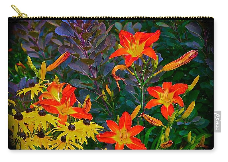 Chicago Botanical Gardens Carry-all Pouch featuring the photograph Garden Color Delight by Tim G Ross
