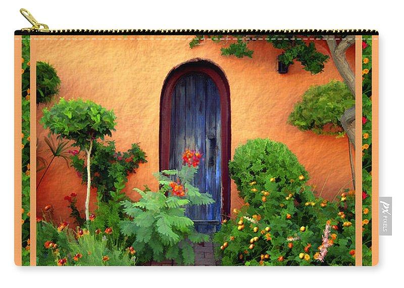 Garden Carry-all Pouch featuring the photograph Garden Delights Mesilla by Kurt Van Wagner