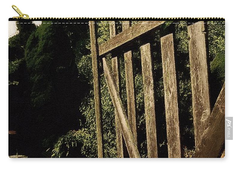 Cobblestones Carry-all Pouch featuring the painting Garden Gate Welcome by RC DeWinter