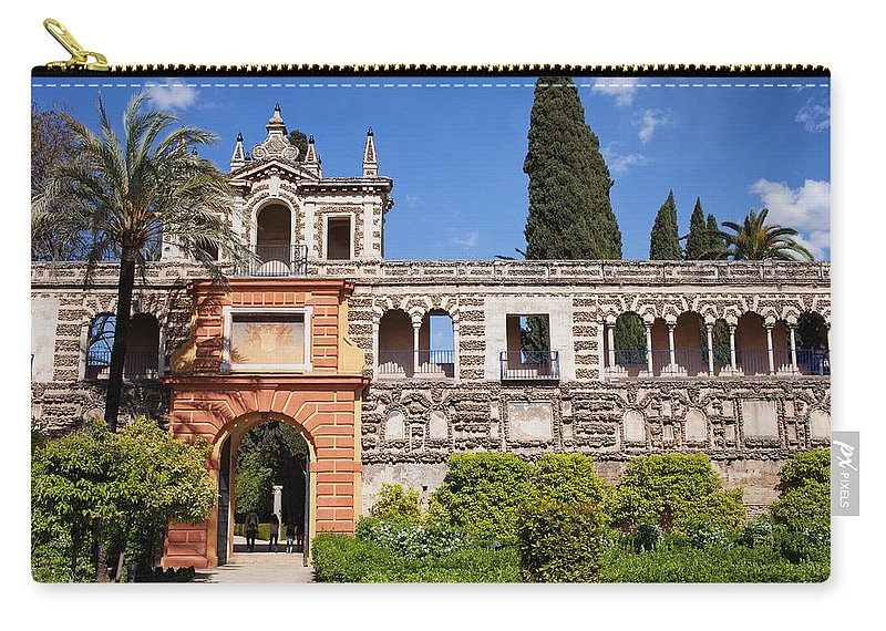 Seville Carry-all Pouch featuring the photograph Garden In Alcazar Palace Of Seville by Artur Bogacki