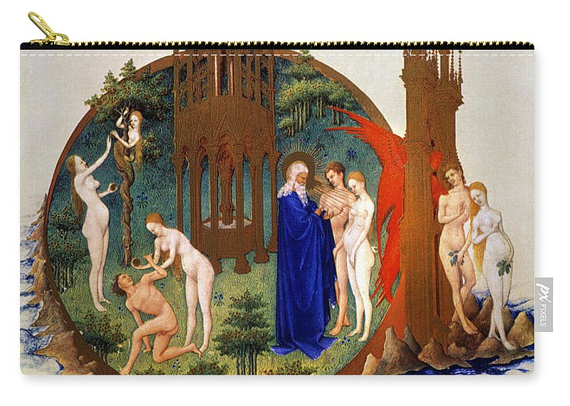 15th Century Carry-all Pouch featuring the photograph Garden Of Eden: Adam & Eve by Granger