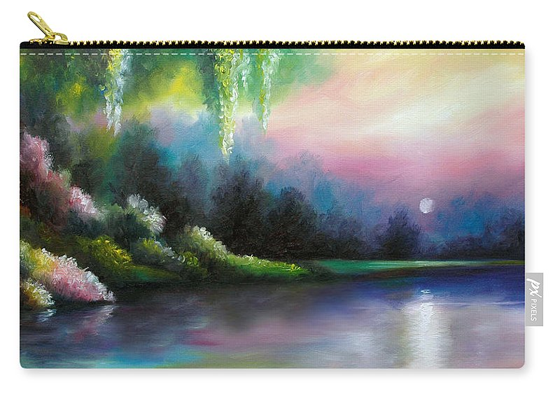 Sunrise Carry-all Pouch featuring the painting Garden of Eden I by James Christopher Hill