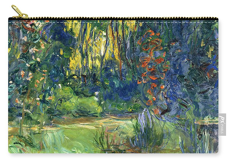 Pond; Impressionist Carry-all Pouch featuring the painting Garden Of Giverny by Claude Monet