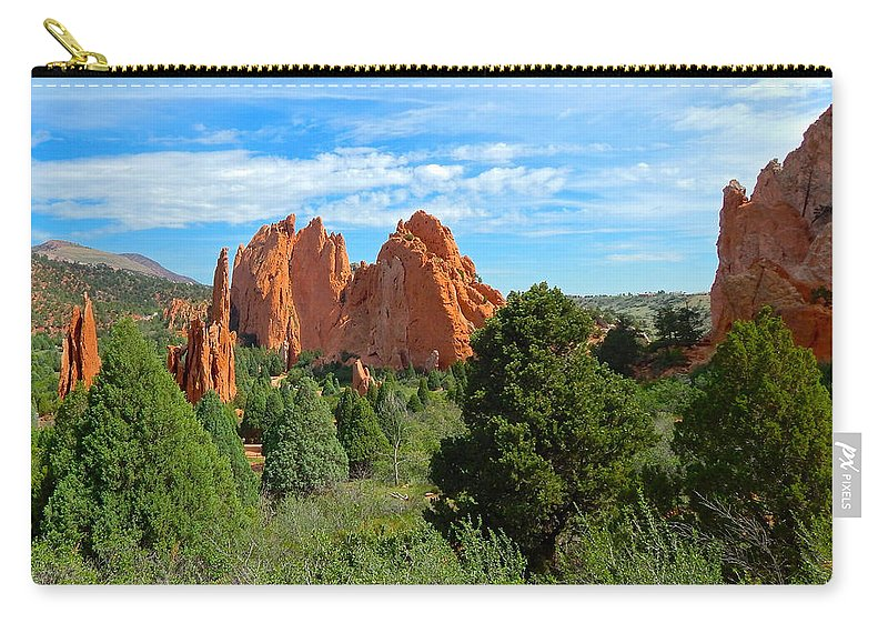 Photo Carry-all Pouch featuring the photograph Garden Of The Gods by Dan Miller