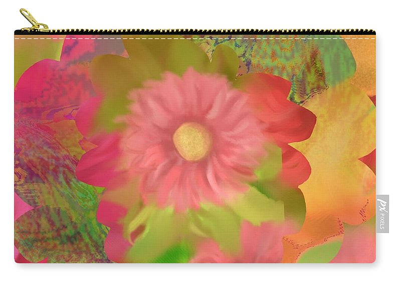 Abstract Carry-all Pouch featuring the digital art Garden Party by Christine Fournier