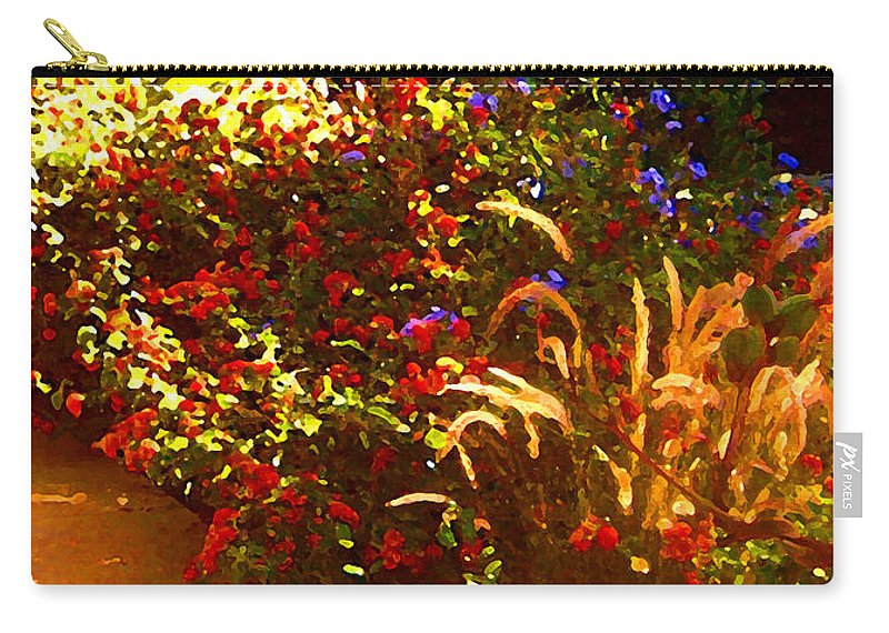 Carry-all Pouch featuring the painting Garden Pathway by Amy Vangsgard