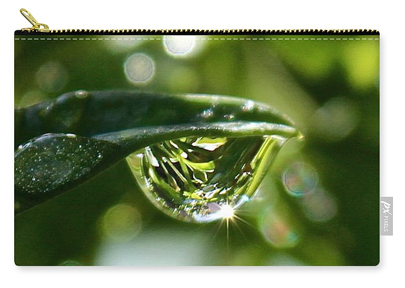 Water Drops Carry-all Pouch featuring the photograph Garden Reflections by Kume Bryant